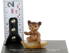 Hagen Renaker Miniature Baby Bear Cub Sitting on Base Stepping Stones #2762 image 2