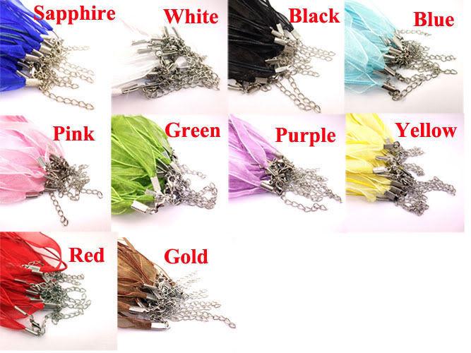 "Yellow Volie W Metal Lobster Chain 46 CM 1/2"" Silk S"