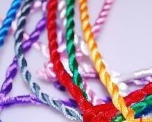 """Mixed Colour Satin Cord Necklace 19"""""""
