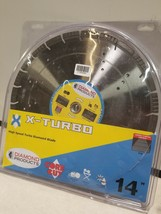 "X-Turbo Saw Blade 14"" x .125 x 1"" Turbo high speed Diamond with air hole... - $108.34"