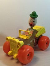 Vintage Fisher Price Jalopy Clown Car Collectible Toy - $7.70