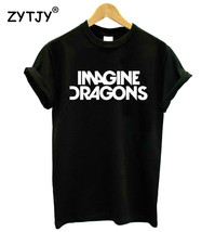 New Women Casual Funny IMAGINE DRAGONS Print Short Sleeve O-Neck Cotton ... - $16.66