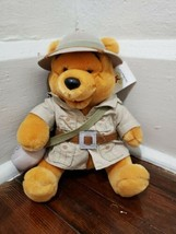 "Disney Parks Animal Kingdom 10"" Pooh Safari Plush with Canteen - $14.50"