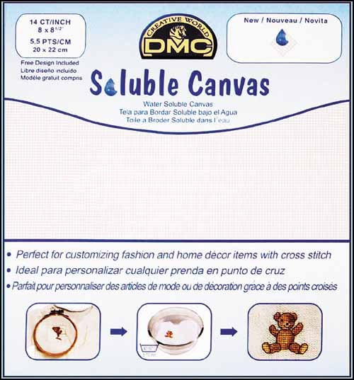 """Water Soluble Canvas 14 count 8"""" x 8.5"""" cut cross stitch canvas fabric DMC - $5.40"""