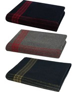 """Military Wool Blanket 62"""" x 80"""" with Stripes For Camping Survival Emergency - $24.99"""