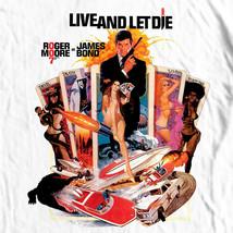 James Bond T-shirt 007 Live Let Die retro vintage 70's film graphic cotton tee image 1