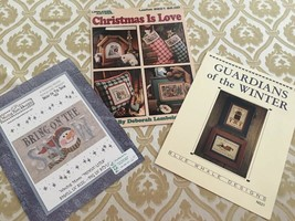 3 Cross Stitch Charts Christmas is Love, Guardian of Winter, Bring on the Snow - $8.99