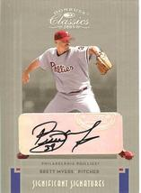 2005 DONRUSS PHILADELPHIA PHILLIES AUTOGRAPH BRETT MEYERS SERIAL # 33/50 - $99.99