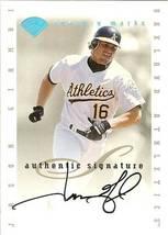 1996 Leaf Signature Century Marks Oakland Athletics Jason Giambi Autograph - $99.99