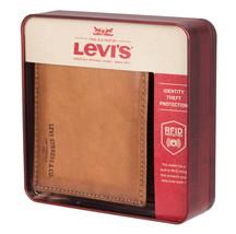 Men's Levi's RFID-Blocking Extra-Capacity Credit Card ID Tan Slimfold Wallet image 2