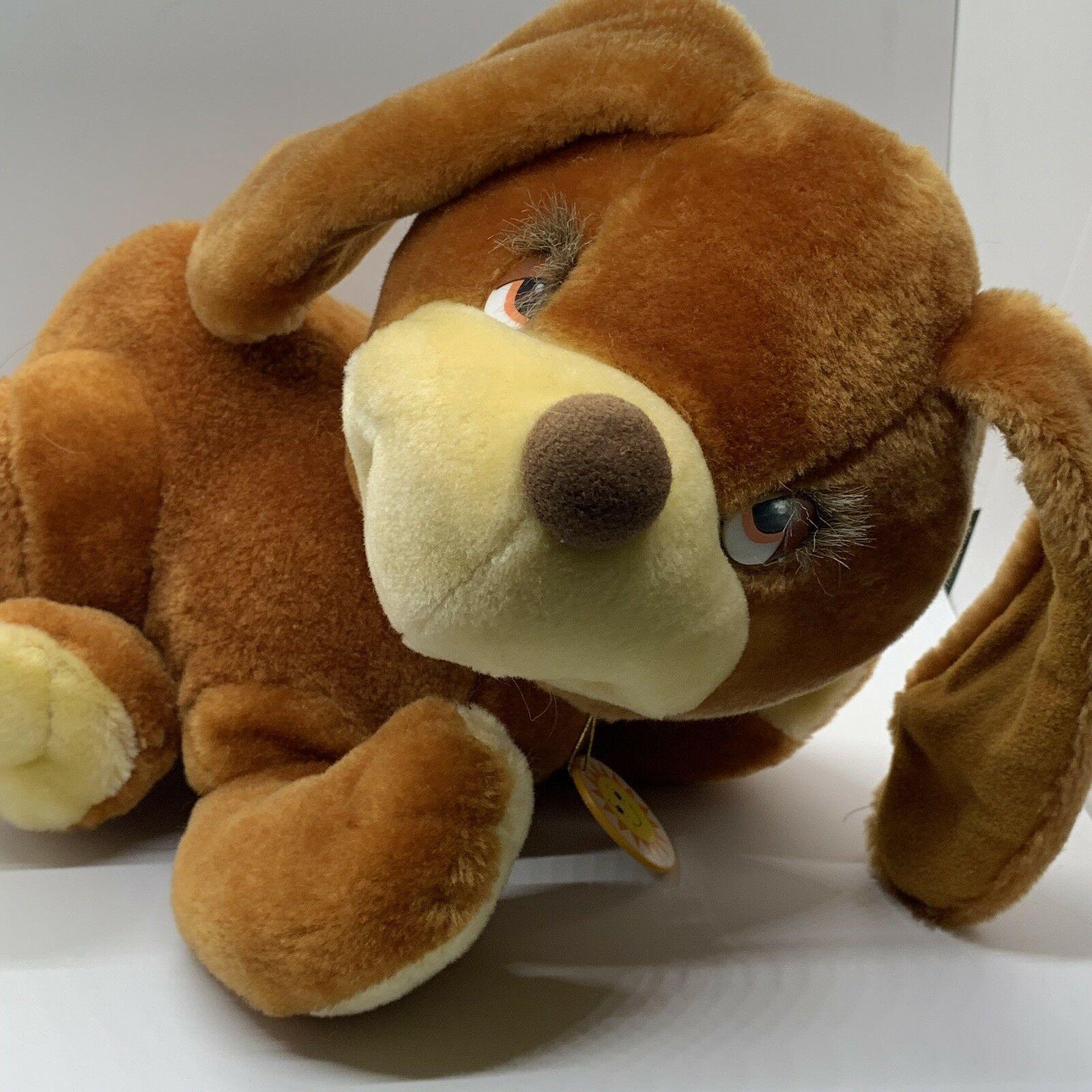 "Sunburst Pets 1983 Vintage Plush Brown Dog Commonwealth Vtg Stuffed Animal 13"" image 11"