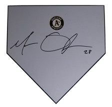 Oakland Athletics Matt Olson Signed Autographed Baseball Home Plate A's ... - $128.69