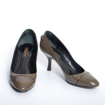 Louis Vuitton Gray Leather Med Heels Shoes Round Toe Stilettos Pumps Size US 5.5 - $247.46