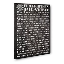 Firefighter Gift Canvas Wall Art Decor - $26.24