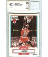 1990-91 FLEER MICHAEL JORDAN CHICAGO BULLS GAME USED JERSEY GRADED BECKETT 10 - $79.99