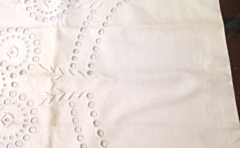 "Beautiful White, Tape Lace Pillow Sham Approx 17"" Square  #1816"
