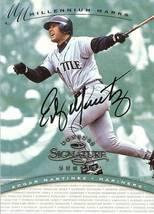 1997 Donruss Signature Seattle Mariners Autograph Edgar Martinez Millennium Mark - $69.99