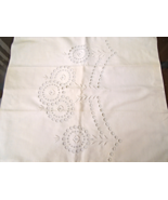 """Beautiful White, Tape Lace Pillow Sham Approx 17"""" Square  #1816 - $8.99"""