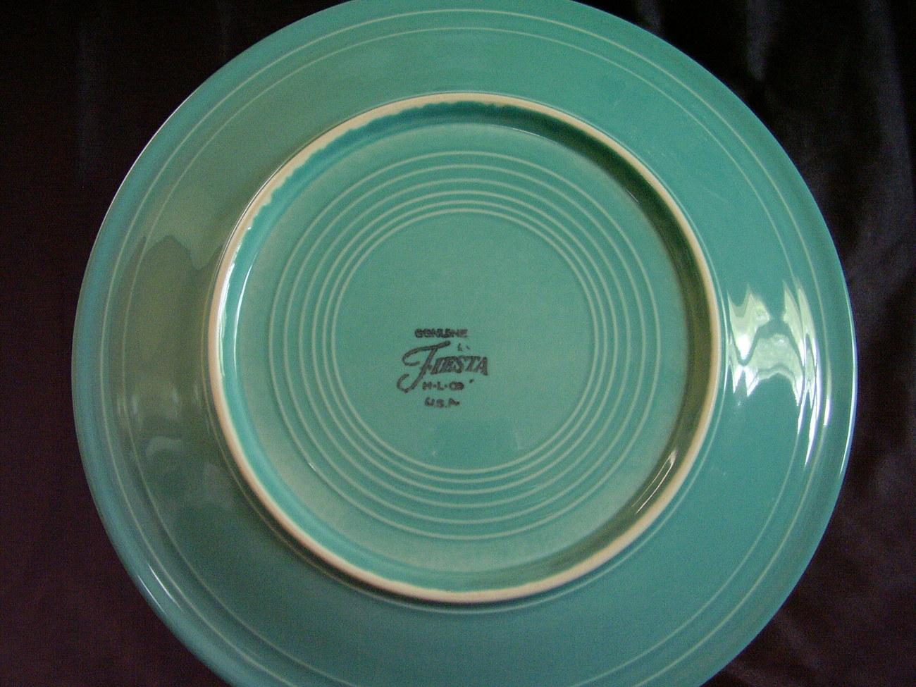 Fiesta Turquoise Dinner Plate C604 Contemporary Fiestaware