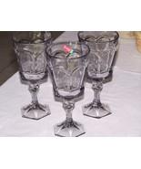 Fostoria Smokey Grey Virginia Stemware Glasses (3) - $21.00