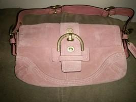 Coach Small Handbag Salmon Suede - $65.63 CAD
