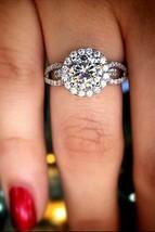 2.85Ct White Round VVS1 Diamond Ladies Engagement Ring in Real 14K White... - $5.075,23 MXN
