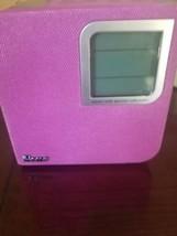 iHome iPhone iPod Dock Speaker Alarm Clock Tuner Model# Ih120p Pink & White - $29.58