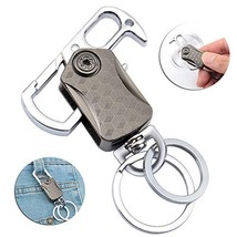 Teocenka Carabiner Car Key Chain for Men and Women 2 Extra Key Rings and Gift Bo
