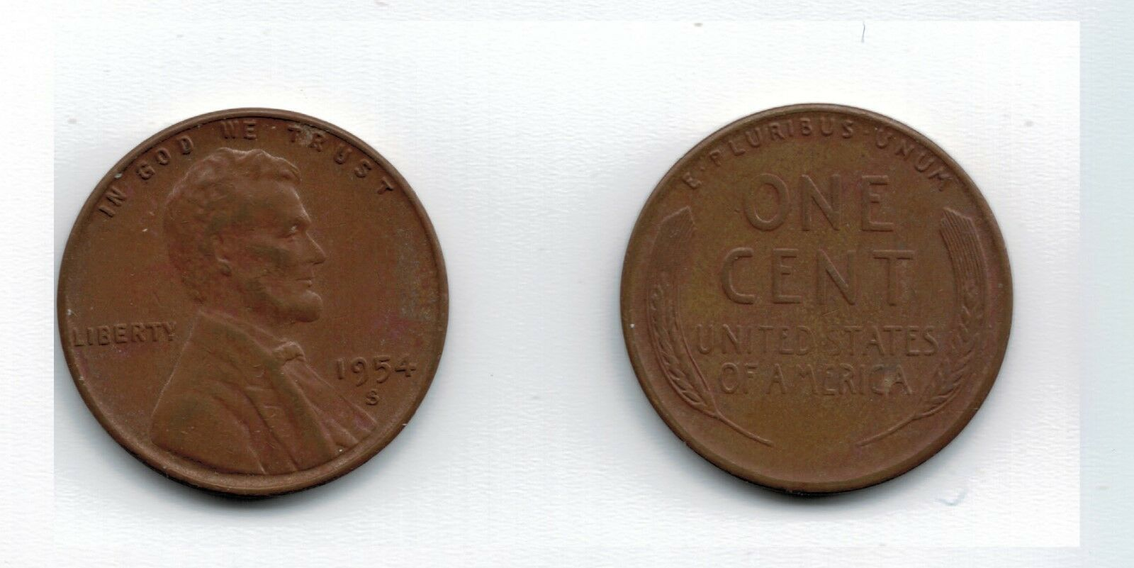 1954 S and 1955 S BU Lincoln Wheat Pennies Cents Combined Shipping CP5461