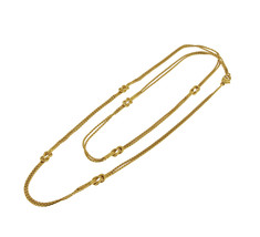 Gucci 18k Yellow Gold Knot Double Chain - $3,900.00