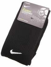 NIKE Academy Cushioned Soccer Dri-Fit OTC Socks size SM and M (Black) - $12.86+