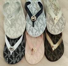 New MICHAEL KORS Women's Logo Foam Footbed Flip Flops Sandals Choose Siz... - $24.99