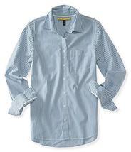 Aeropostale Womens Vert Striped Button Up Shirt 456 XS - Juniors - $15.99