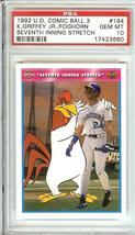 1992 Upper Deck Seattle Mariners Ken Griffey Jr Comic Ball Psa 10 - $39.99