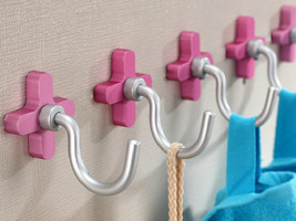 Flower Hook Decorative Hooks / Wall Hooks Metal  Hooks Coat Hangers Pink... - $7.50