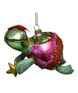December Diamonds Miss Turtle in Pink Dress Glass Christmas Holiday Orna... - $16.99
