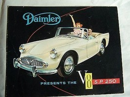 1961 Daimler Convertible Sales Brochure Owners Parts Service 1960 - $34.99