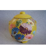 Vintage Ransburg Stoneware Cookie Jar Yellow As... - $45.00