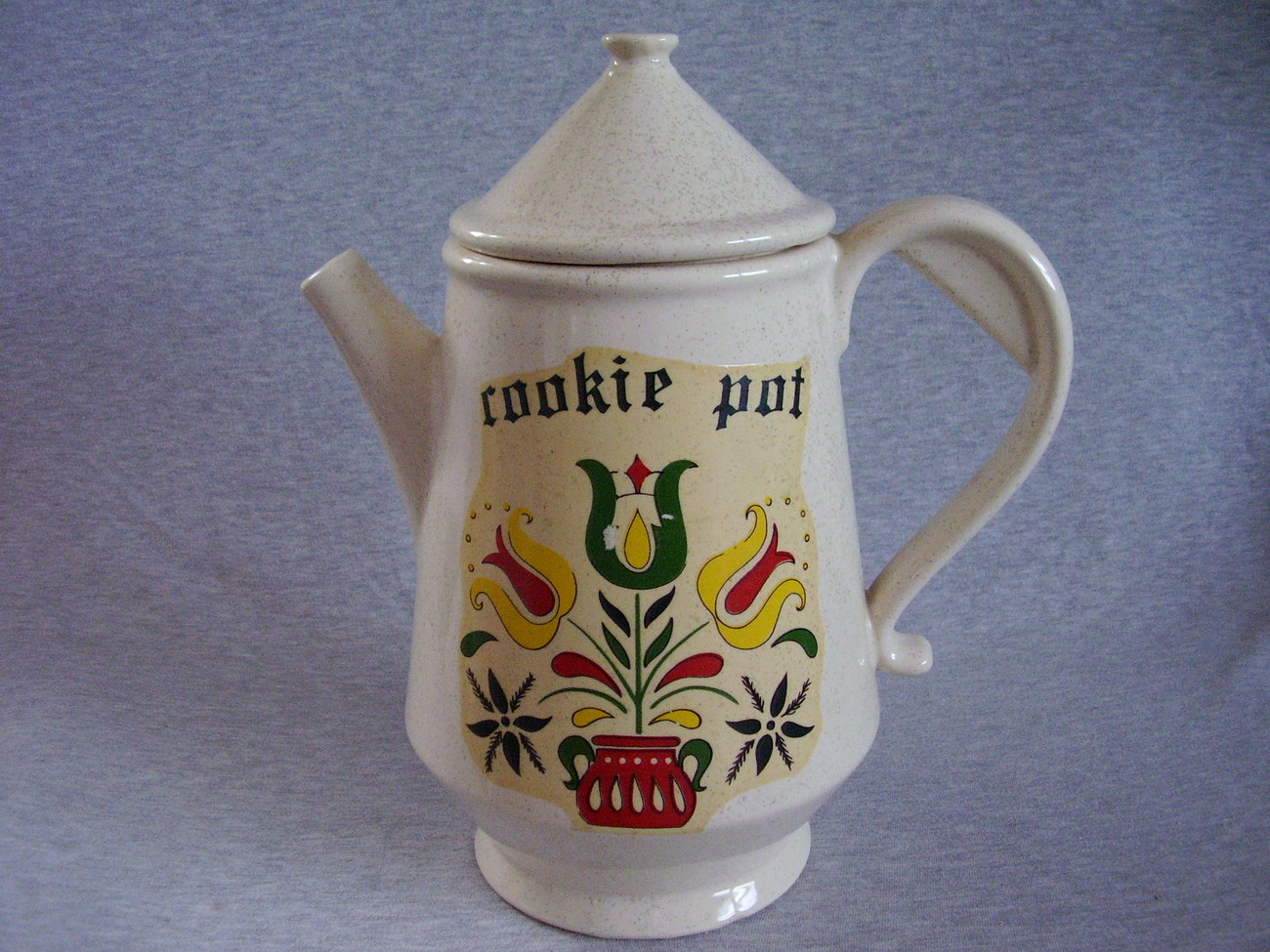 McCoy Coffee Pot Cookie Pot Cookie Jar Vintage Tulips