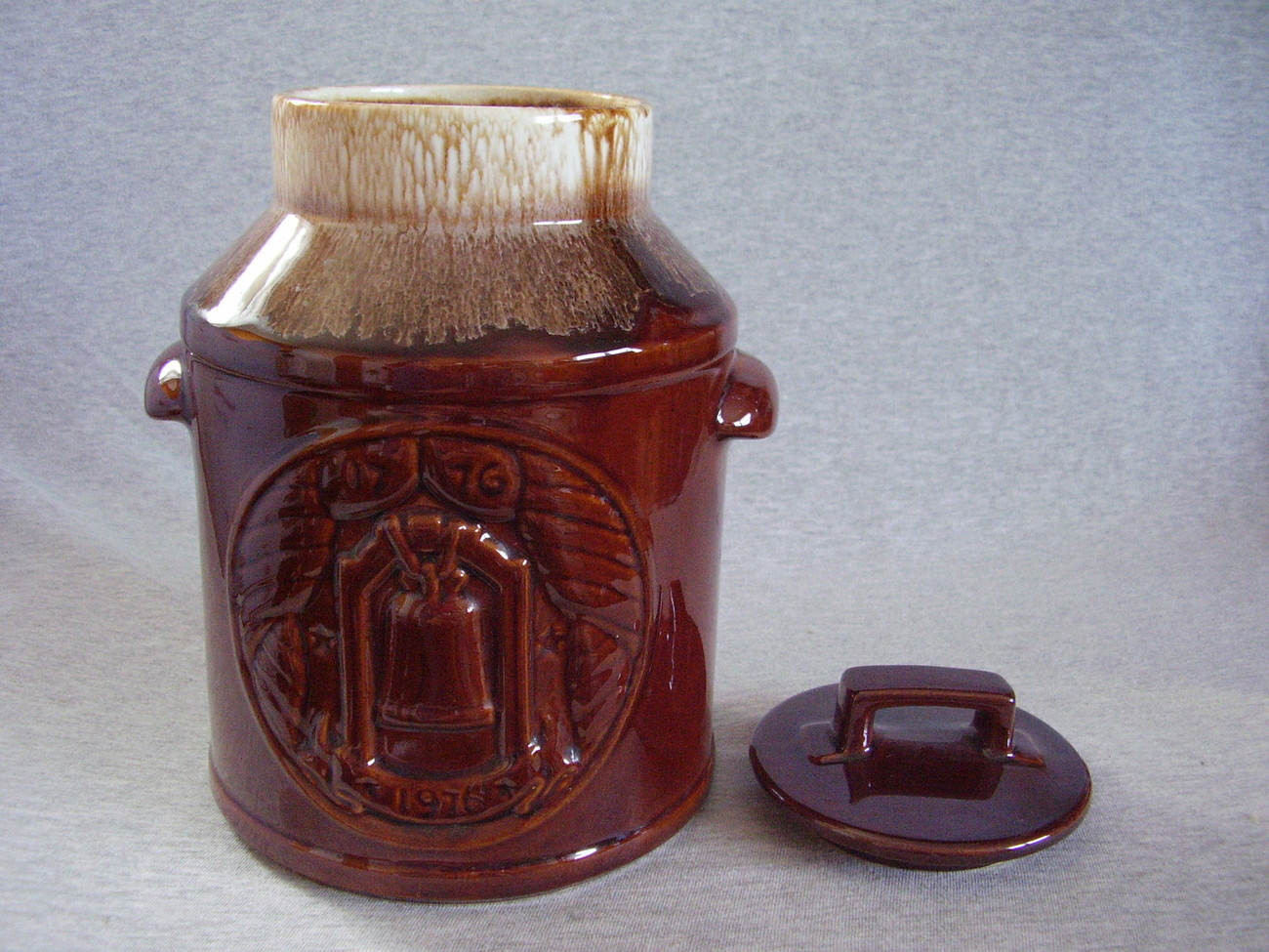McCoy Milk Can Bicentennial Cookie Jar w Liberty Bell