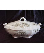 Dresdon SemiPorcelain Transferware Johnson Bros Covered Dish - $28.00