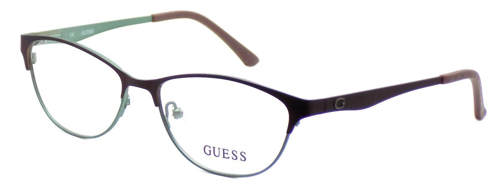 GUESS GU2504 049 Women's Eyeglasses Frames 53-15-135 Satin Brown + CASE