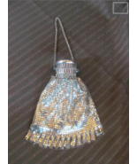Antique 1920's Whiting & Davis Silver Mesh Purse with Gate Top - $87.12