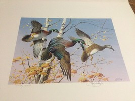 1986 First of State Vermont Migratory Waterfowl Stamps/Print S/N + Signe... - $195.00
