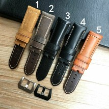 24 26mm Crazy Horse Genuine Leather Watchband For PAM Panerai Wristband Strap - $31.63+