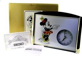New Mickey & Co. Disney Seiko Minnie Mouse Desk Mantel Clock Retired - $55.97