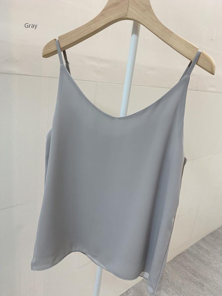 Chiffon top gray