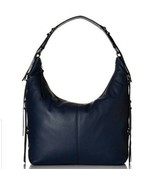 Lucky Brand Jil Hobo Handbag Purse Blue Pebbled Leather Purse Bag  New $198 - $84.14