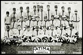 MLB 1913 Brooklyn Dodgers Team Picture Black & White 8 X 12 Photo Picture - $10.33