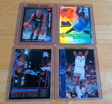 Russell Westbrook Thunder LOT(4) W/Rookie Cards Mint Condition US Free S... - $17.73